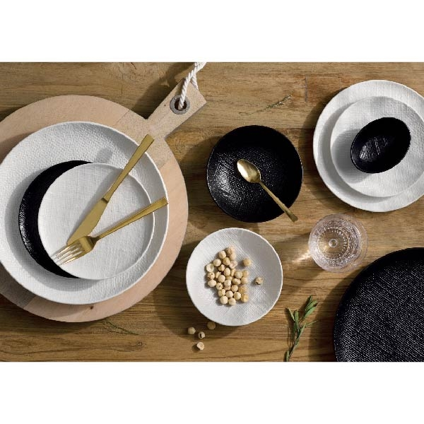 【Luzerne】陸升瓷器 Knit 麻布紋 15cm 橢圓碗247ml-藍 /KT1205115