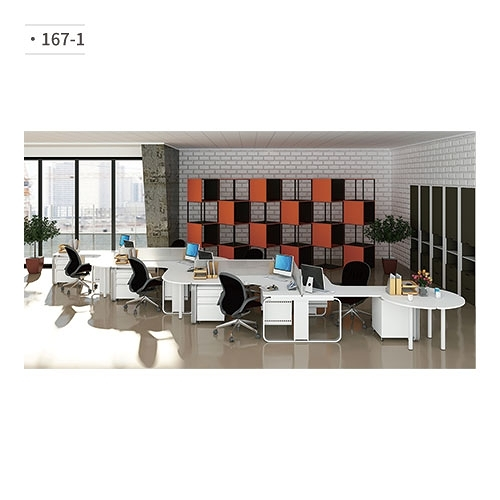 辦公桌 (隔間屏風/鋁合金鋼腳) 167-1 (請來電詢價)