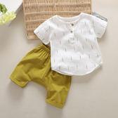 寶寶套裝男0-1-3歲潮4兒童短袖衣服男童套裝夏裝2018新款夏季童裝 小巨蛋之家
