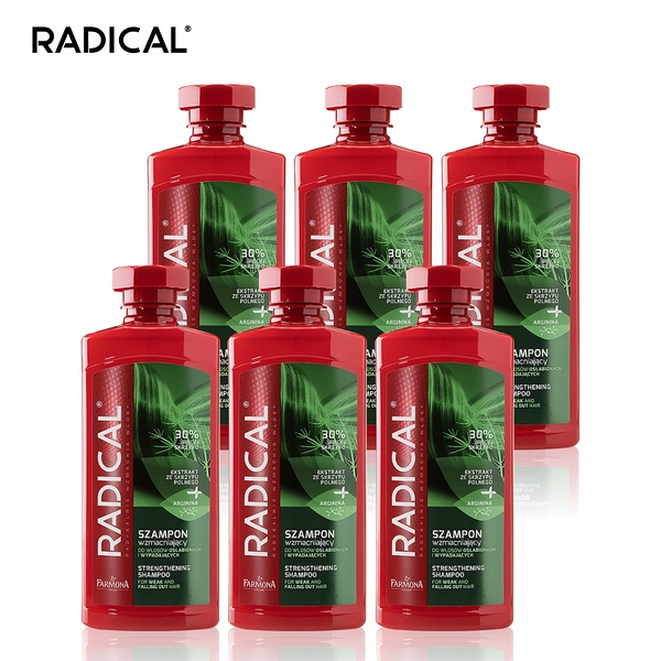 RADICAL - 調理洗髮露(6入組) (共6款) 馬尾草/菩提樹花/銀杏/小麥籽粒/白柳/鼠尾草