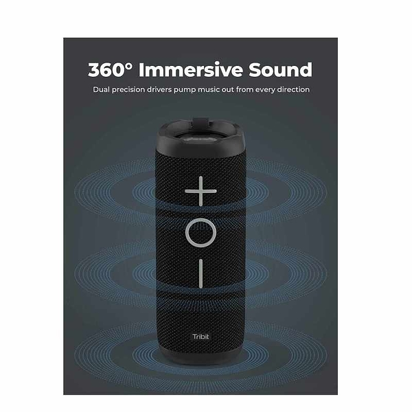 Tribit StormBox 24W 無線揚聲器 BTS30 360度環繞 IPX7防水 66英尺藍牙範圍 [2美國直購]