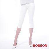 BOBSON 女款低腰膠原蛋白彩色七分褲(223-80)