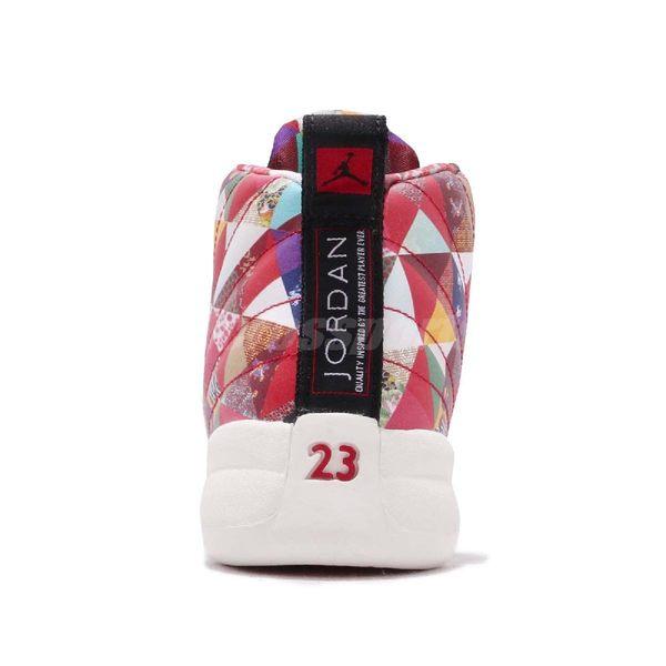 ... Nike Air Jordan 12 Retro PS CNY 中國新年紅白拼接圖騰喬丹12代童鞋 ... 7be0a5076