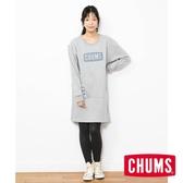 CHUMS 日本 女 Boat Logo  洋裝 灰 CH181084G005