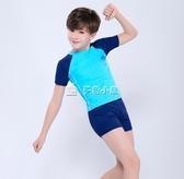 男童泳衣 兒童泳衣男童 分體中大童寶寶青少年學生男孩防曬游泳衣泳褲 多色小屋