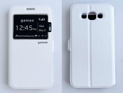 gamax Samsung GALAXY E7(SM-E7000) 側翻式手機套 視窗商務系列 2色可選 可加購保貼更超值