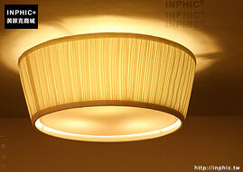 INPHIC- 美式水晶吸頂燈歐式田園布藝鐵藝花草主臥室客廳浪漫吸頂燈-D款_S197C