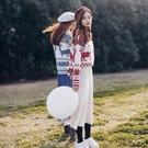 聖誕毛衣寬鬆慵懶風圣誕毛衣女2019年潮秋冬外穿加厚復古港風針織上衣 雲朵走走