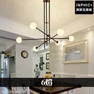 INPHIC-簡約多頭燈分子吊燈臥室後現代餐廳燈具客廳玻璃球-6燈_WUEs