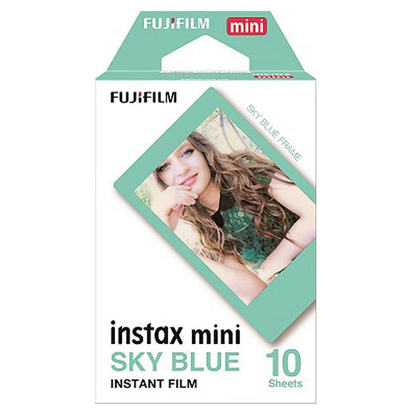 FUJIFILM Instax Mini 拍立得底片 藍綠色邊框 SKY BLUE Tiffany綠 底片