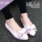 大尺碼女鞋-凱莉密碼-秋冬新款多層次蝴蝶...