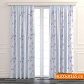 薔薇之戀遮光窗簾 寬200x高165cm