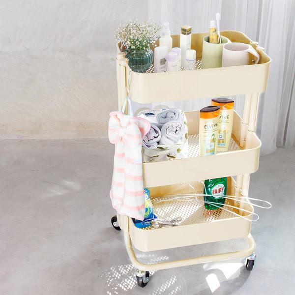 收納車-米黃 手推車 卡特工業風置物推車-經典款│三層萬用推車 樂嫚妮 IKEA RASKOG