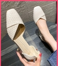 粗跟鞋 女鞋夏季單鞋中跟方頭粗跟秋百搭小香風法式小高跟鞋女2020年新款 伊蘿