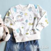 Mini Jule女童 上衣 彩虹冰淇淋童趣印花束口長袖T恤(共2色) Azio Kids 美國派 童裝