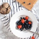 西餐湯盤純白陶瓷餐盤圓形家用深盤意面盤北歐簡約餐具菜盤沙拉盤【七夕情人節】