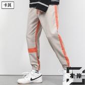 運動休閒褲子男秋冬季加絨加厚工裝褲韓版寬鬆束腳【左岸男裝】