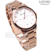 LOVME 原廠公司貨 知性優雅 日系風格 不鏽鋼女錶 防水手錶 玫瑰金 VS0020L-44-241