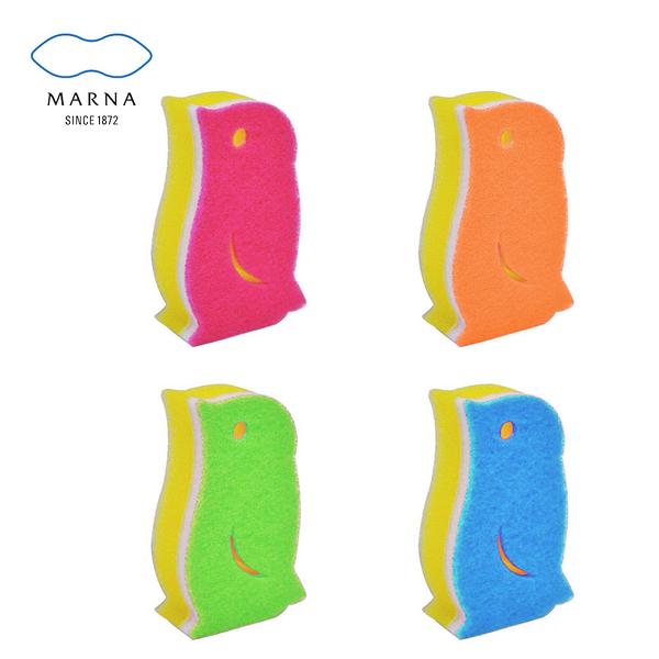 【MARNA】日本進口企鵝造型菜瓜布(四色任選)