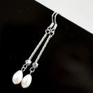 【喨喨飾品】珍珠耳環 耳勾式 高雅時尚  S364