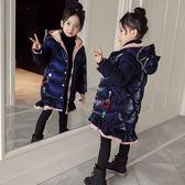 女童棉衣新款冬季韓版外套羽絨棉棉襖中長款兒童加厚亮絲棉服