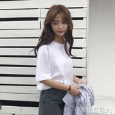 港風女裝bf韓版純色短袖t恤女寬鬆韓版學生百搭情侶夏裝新款上衣 克萊爾