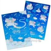 〔小禮堂〕雙子星 日製L型文件夾組《2入.深藍》資料夾.L夾.檔案夾.迷夜星辰系列 4901610-57880