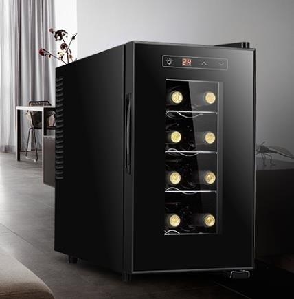 電子紅酒櫃 VNICE8支裝電子紅酒櫃恒溫酒櫃茶葉保鮮雪茄櫃家用小型迷你冷藏 DF 維多原創