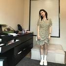 碎花連衣裙夏 王少女的店碎花連衣裙子 2021年春夏款新款甜美仙女v領氣質小個子 設計師
