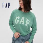 Gap女裝 Logo棉質舒適休閒上衣 544821-層疊藍色