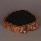 實木底座 復古風格瓷器底托茶托古典家居裝飾擺設