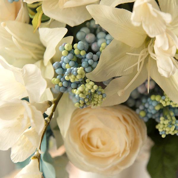 模擬花假花 套裝 花藝 客廳餐桌 裝飾花 花瓶花束 -bri02004