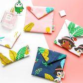 衛生棉包-日系童趣風滿版印花魔鬼氈衛生棉包仕女包盥洗包收納包【AN SHOP】