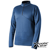 PolarStar 中性 高領拉鍊保暖衣『灰藍』P19215 上衣 男版 休閒 戶外 登山 吸濕排汗 透氣