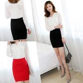 韓版包臀裙半身裙女高腰短裙彈力大碼包裙西裝職業一步裙 黛尼時尚精品