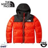 【The North Face 男 ICON 700FP 防潑水鵝絨保暖外套《橘/黑》】3C8D/保暖外套/防潑水/休閒連帽外套