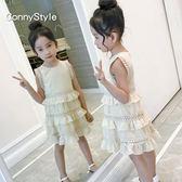 女童洋氣裙子夏裝新款童裝女大童連身裙韓版背心裙兒童公主裙歐歐流行館