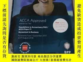 二手書博民逛書店Foundations罕見in Accountancy FAB ACCA Paper F1:ACCA會計基礎(外文