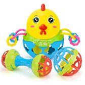 手抓球 3-12月寶寶手抓球摳洞玩具 嬰兒抓握球 學爬軟膠球搖鈴球 俏腳丫