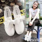 春季帆布鞋女內增高小白鞋系帶百搭休閒單鞋女鞋厚底學生板鞋 時尚潮流