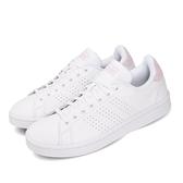 adidas 休閒鞋 Advantage 白 粉紅 女鞋 小白鞋 基本款 運動鞋【ACS】 F36481