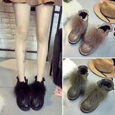 天天新品時尚毛毛短靴女靴2019秋冬靴子學生保暖加絨雪地靴低跟方跟馬丁靴