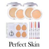 【磁力粉底優惠組】韓國Perfect Skin 磁力粉底雪花版 韓國超遮瑕超服貼 磁力粉底