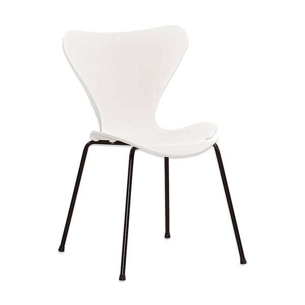 奎妮白色造型椅/餐椅(21CM/1068-6)/H&D東稻家居