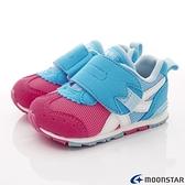 日本Moonstar月星機能童鞋頂級HI系列學步款 1504粉藍(寶寶段)