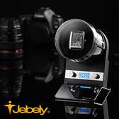 【Jebely】機械手錶自動上鍊盒 金屬複合媒材 JBW092 時尚黑 單手錶轉台 動力儲存錶機 台灣製