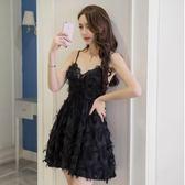 618好康鉅惠性感女裝小禮服女裙子露背蕾絲v領低胸吊帶