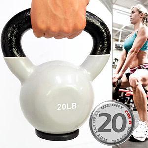 20LB壺鈴│KettleBell包膠20磅拉環啞鈴(實心鑄鐵+橡膠底座)浸膠9公斤搖擺鈴舉重量訓練運動健身器材