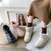 靴子 網紅雪地棉靴女冬季新款學生百搭加絨加厚保暖窩窩面包棉鞋 優拓