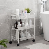 居家家鐵藝可移動置物架廚房分層小推車浴室落地多層化妝品收納架